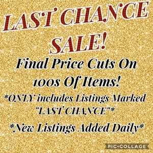LAST CHANCE SALE! LIKE THIS LISTING FOR UPDATES!